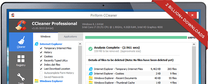 Cleaner Latest Version v5.38 Free Download For Windows PC