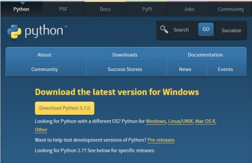 Download Phython latest version for PC