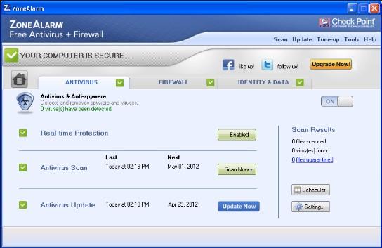 zonealarm antivirus+security for pc