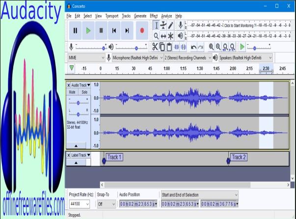 audacity audio auditor offline installer