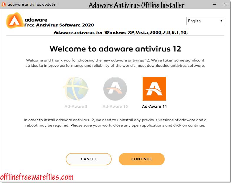 adaware antivirus offline installer