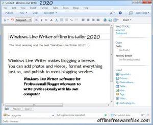Download Windows Live Writer v14.0.8 (Latest 2020) For Windows