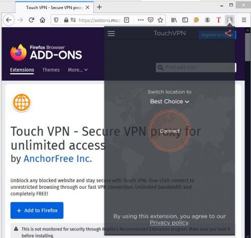 Touch Vpn Firefox Not Working