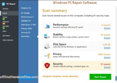 Download PC Repair Offline Installer For Windows