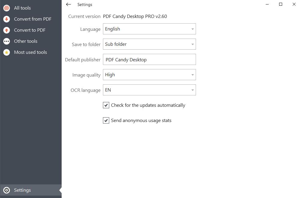 pdf candy setting