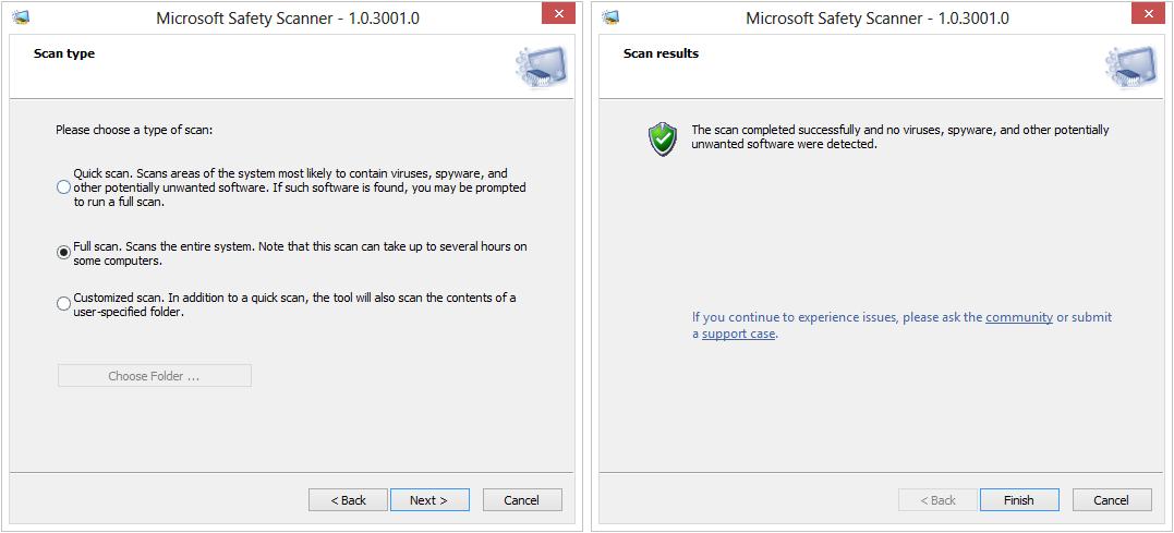 microsoft safety scanner download