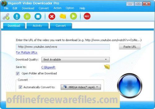 bigasoft video downloader offline installer